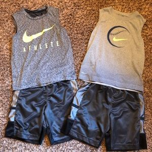NIKE Muscle Tanks and Shorts